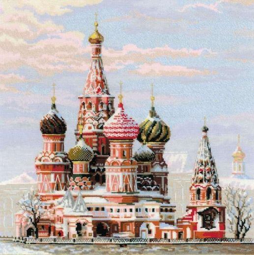 Набор для вышивания крестом Москва. Собор Василия Блаженного № 1260 фирма Риолис