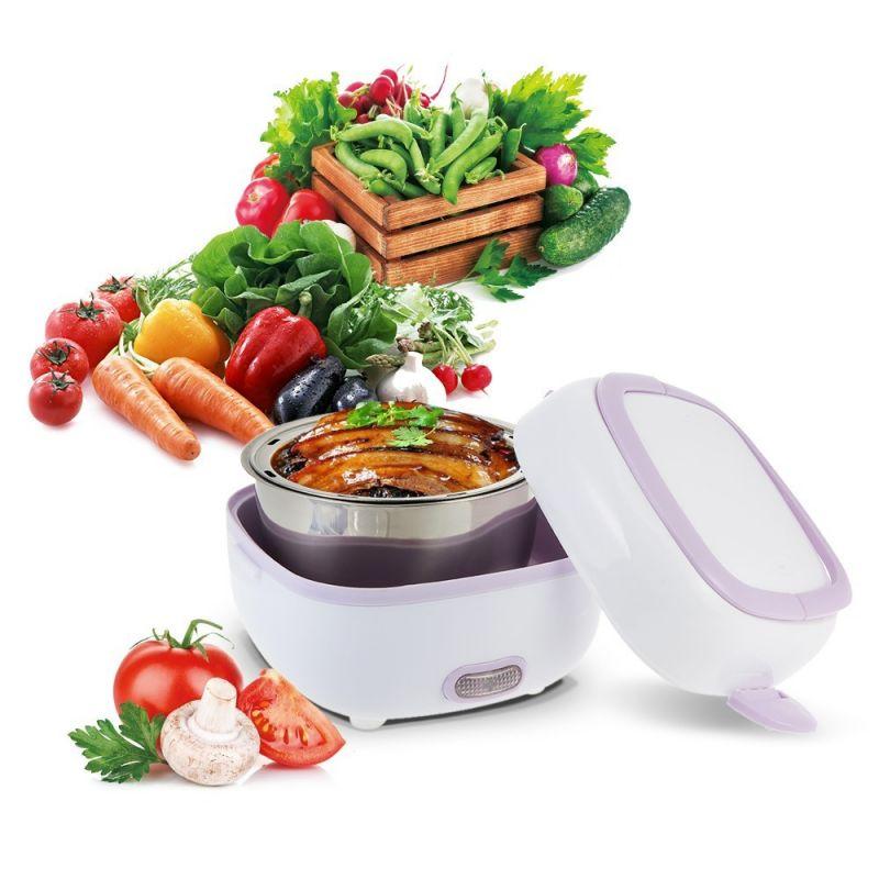 Контейнер Для Еды С Подогревом Electric Lunch Box (цвет сиреневый)