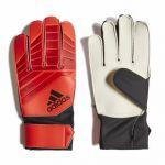 Детские вратарские перчатки adidas Predator красные с чёрным