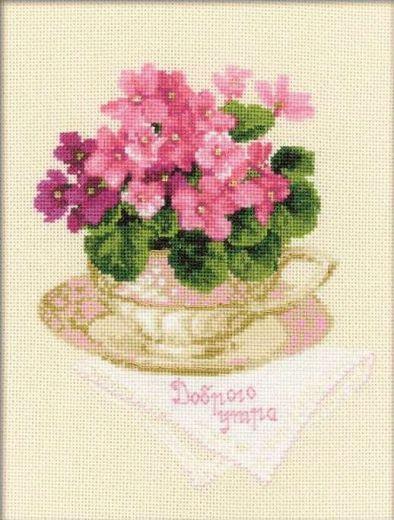 Набор для вышивания крестом Доброго утра №1269 фирма Риолис