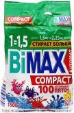 BiMax 100 пятен автомат.Стиральный порошок 1500гр мягкая упак., шт