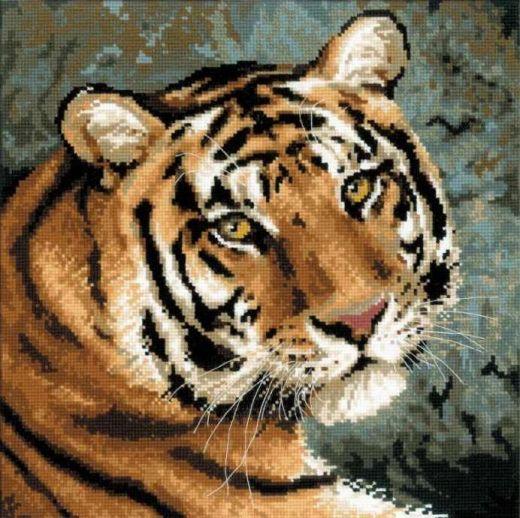 Набор для вышивания крестом Амурский тигр №1282 фирма Риолис