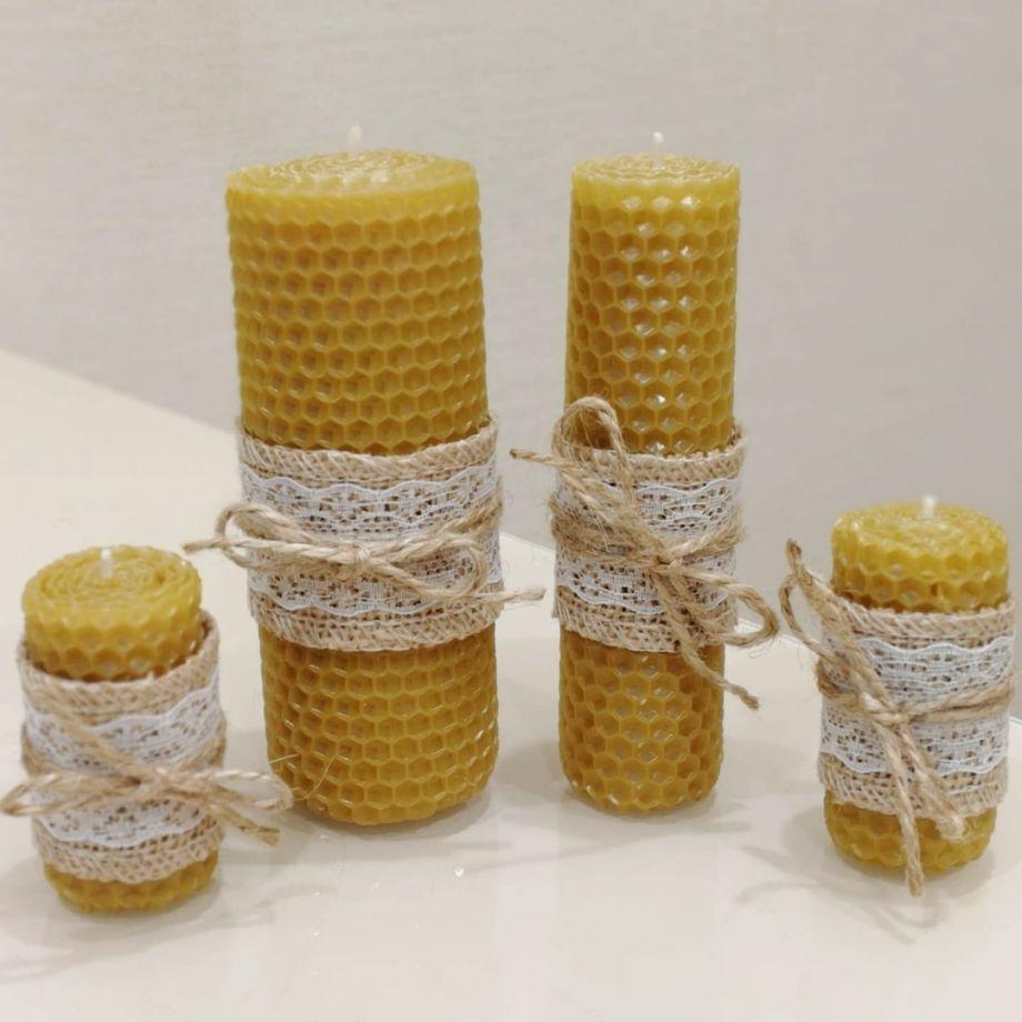 ~Набор желтых свечей~
