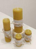 Медовые свечи из натуральной вощины