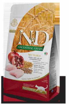 N&D Low Grain Cat Chicken & Pomegranate Neutered (курица+гранат для стерилизованных кошек)