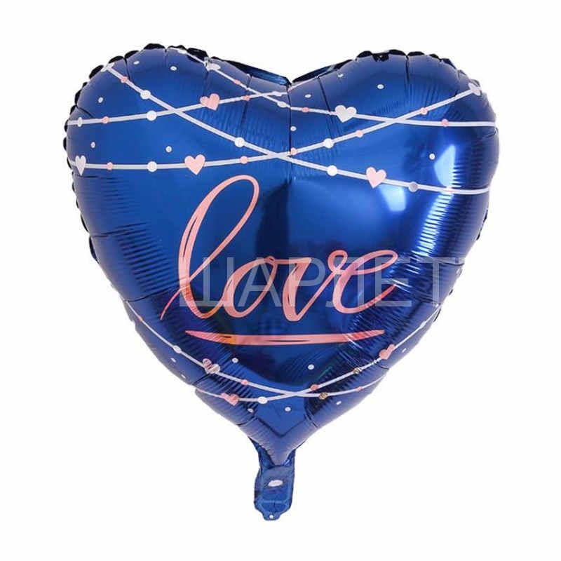 шар сердце синий love