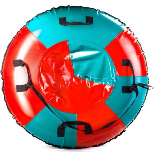 Санки-ватрушка Мега SM-245 (голубой-красный)
