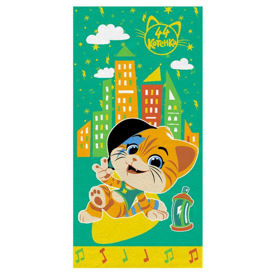 """Детское махровое полотенце """"Лампо. 44 котёнка"""" рис.1146-03 зеленый"""