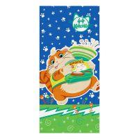 """Детское махровое полотенце """"Пончик. 44 котёнка"""" рис.1145-01 синее"""