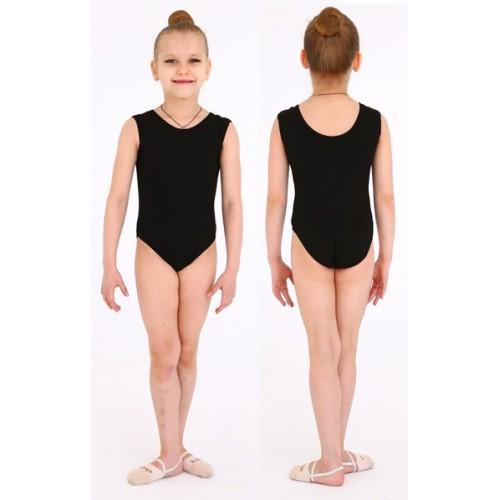 Купальник гимнастический майка INDIGO SM-353 черный