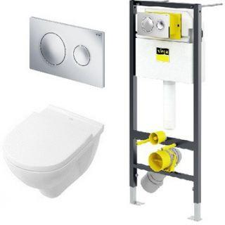 Система инсталляции VIEGA Prevista 792855 с подвесным унитазом Dry VILLEROY&BOCH 5660HR01