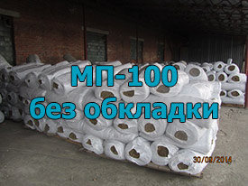 Маты прошивные минеральные мп-100, без обкладки 100 мм