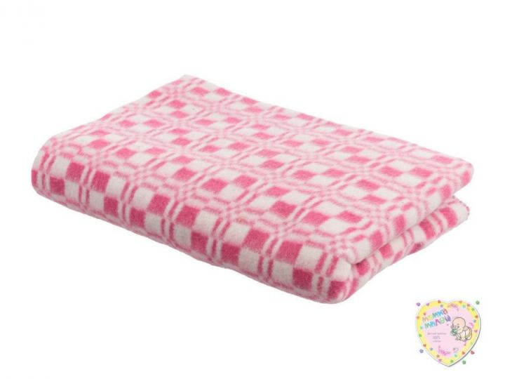 Одеяло детское байковое 140х110 (розовый)