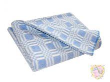 Одеяло детское байковое 112х90 (синий)