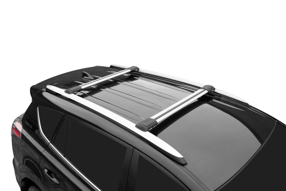 Багажник на рейлинги Toyota RAV4 2013-..., Lux Hunter L54-R, серебристый, крыловидные аэродуги