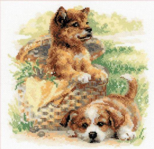 Набор для вышивания крестом Нежный возраст №1390 фирма Риолис