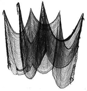Декоративная паутина черная (240-76 см)