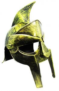 Шлем Гладиатора золотой