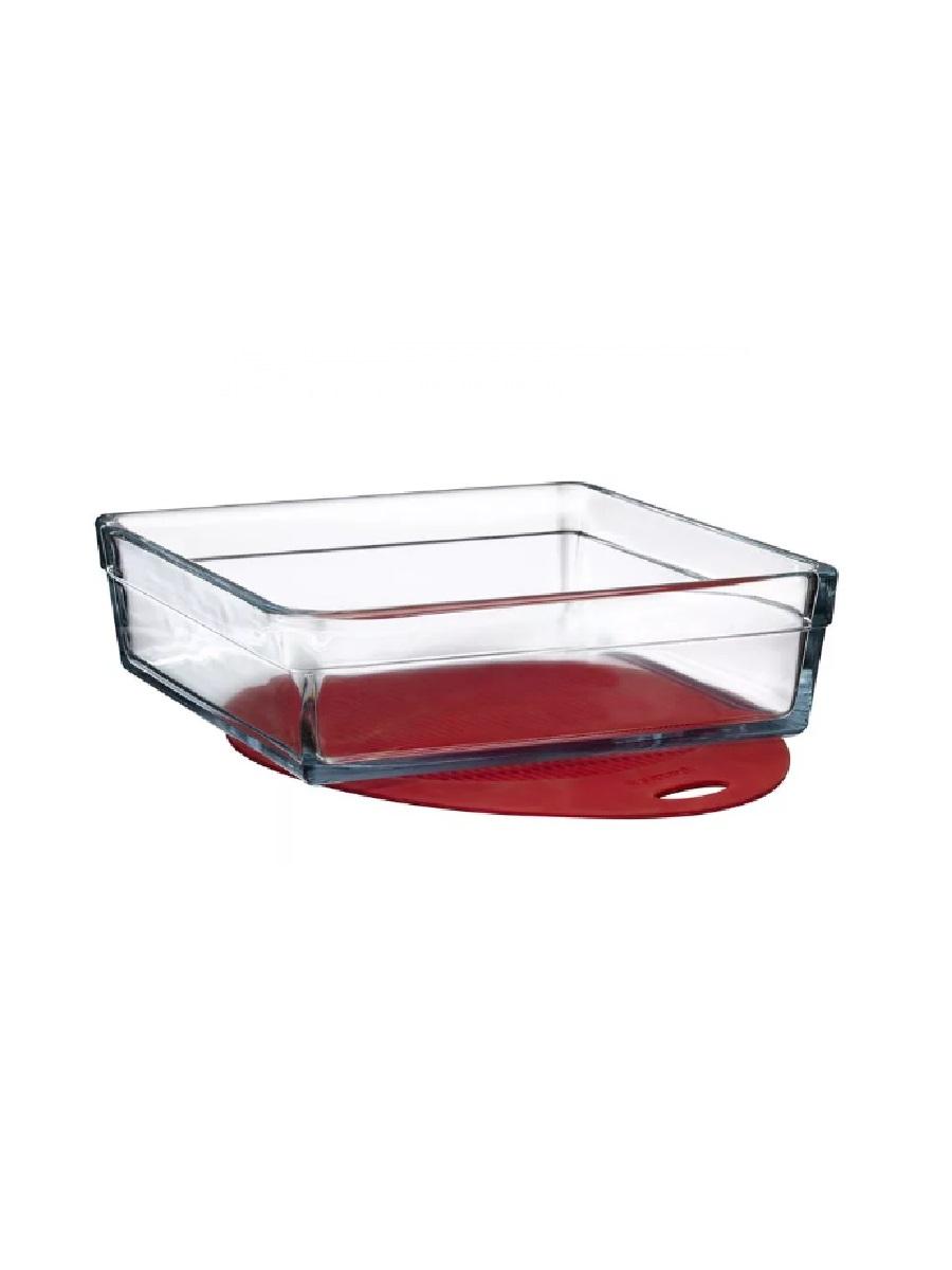 Квадратная форма для запекания из жаропрочного стекла с силиконовым ковриком 2,4 литра Borcam Guzzini 59304 23х23х9 см