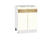 Шкаф нижний Терра Н600 D (Ваниль софт)