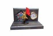 Настольные часы «ПОБЕДА», цветная роспись