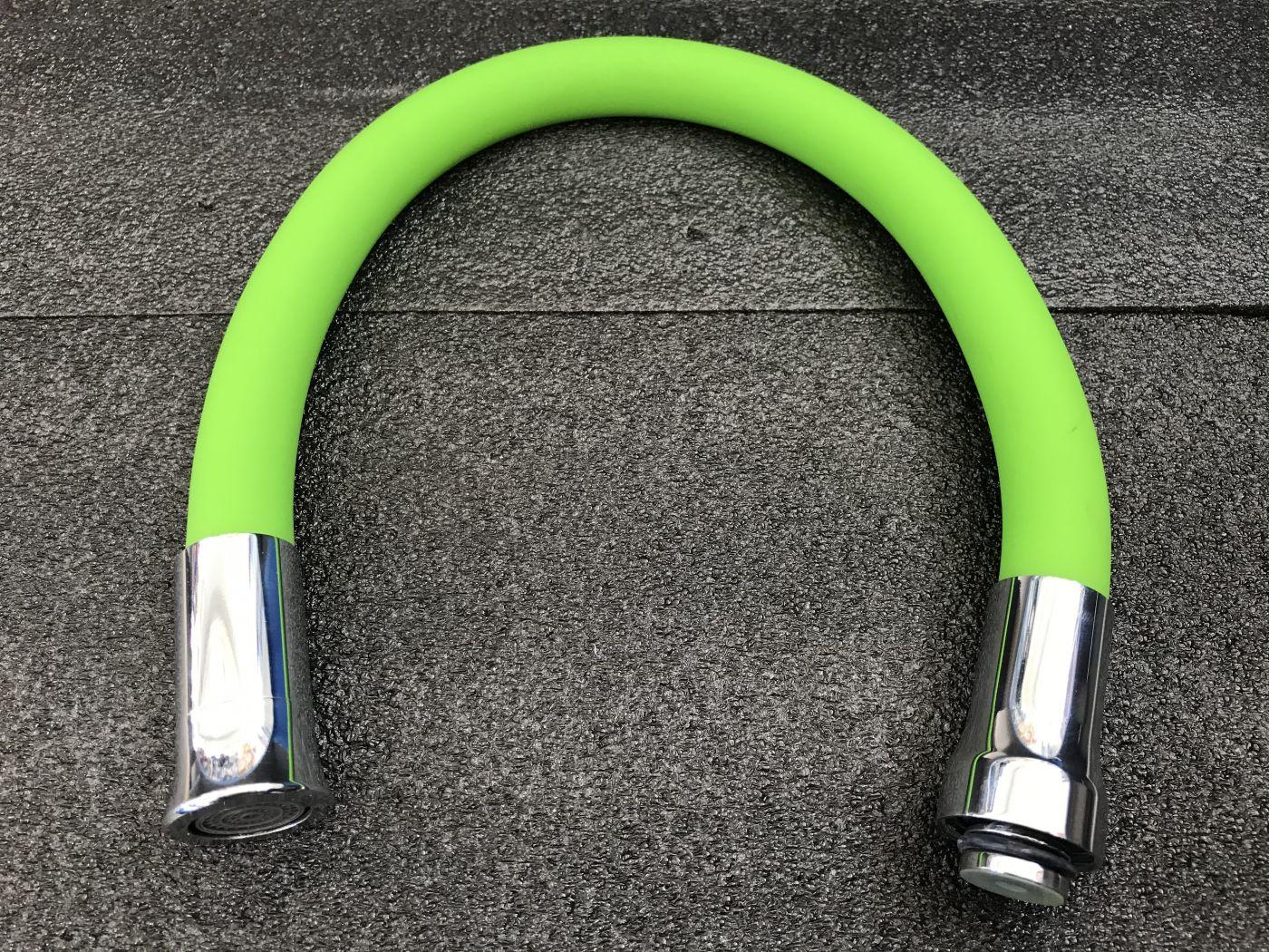 Гибкий излив для смесителя Vaserzberg VS-2G (зеленый)