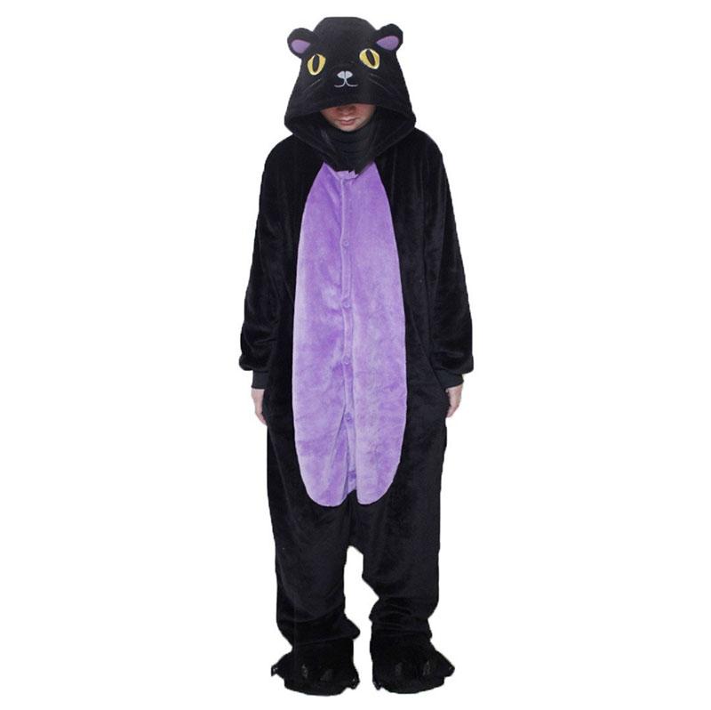Детская Пижама Кигуруми Кошка Черная