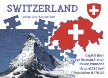 Почтовая открытка Step to Switzerland