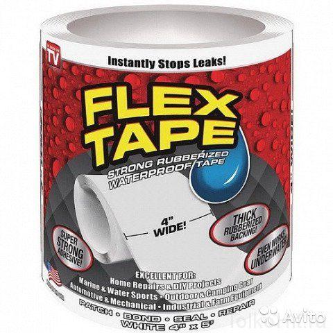 Сверхсильная клейкая лента Flex Tape, 18 см (Белый)