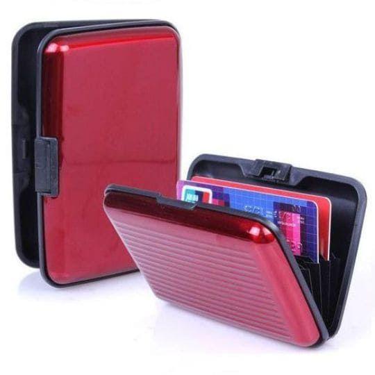 Бокс для кредитных карт Security Credit Card Wallet, красный