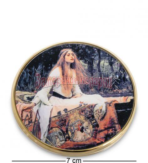 "pr-M18WA Зеркальце ""Леди из Шалот"" Джон Уильям Уотерхаус (Museum.Parastone)"