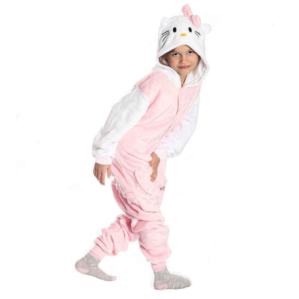 Детская Пижама Кигуруми Кошка Розовая