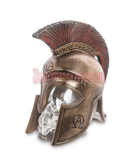 """WS-1027 Флакон """"Спартанский шлем на стеклянном черепе"""""""