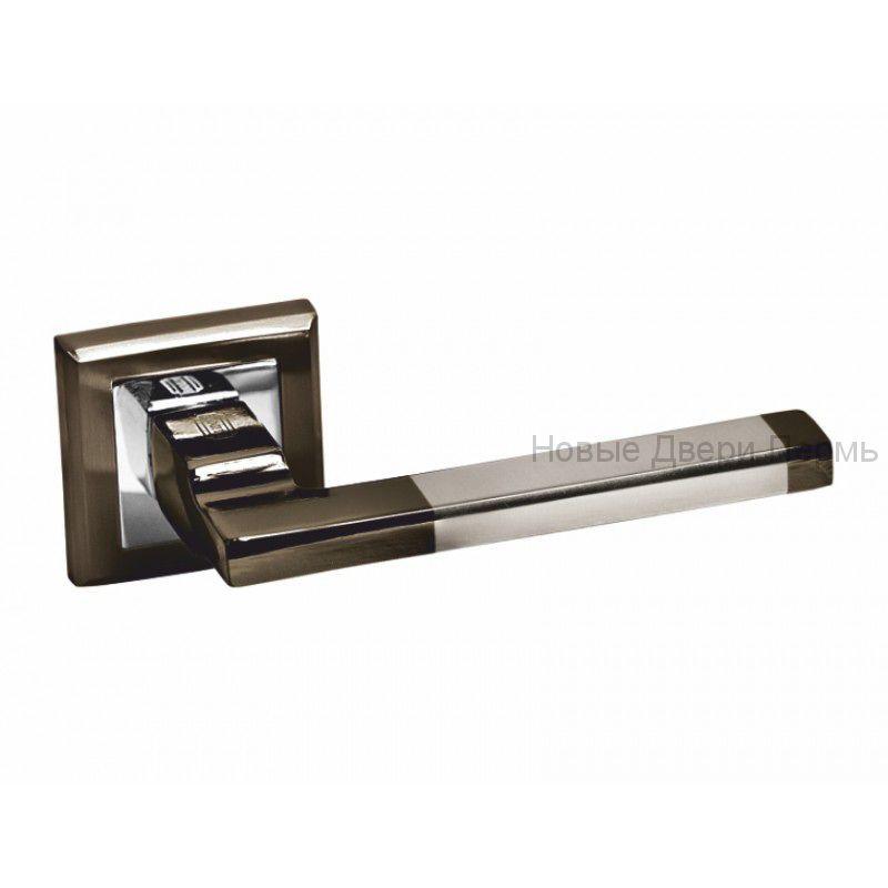 Ручки дверные S-Locked A-120 ВН/CP черный никель/хром