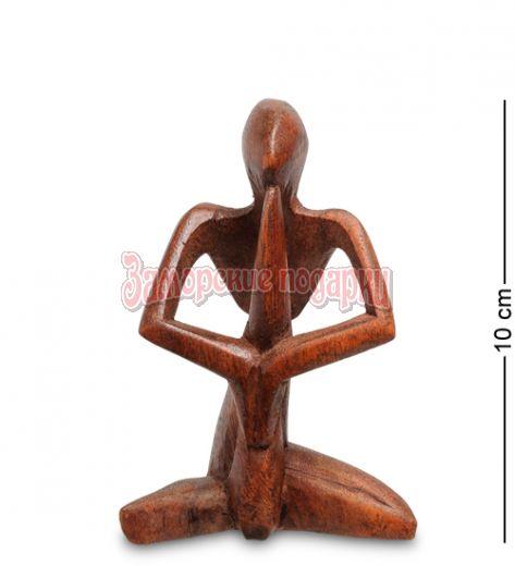 91-019 Статуэтка АБСТРАКЦИЯ молитва 10 см (красное дерево)