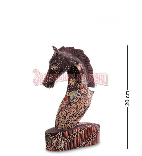 """10-013-02 Фигурка """"Лошадь"""" (батик, о.Ява) сред 20 см"""