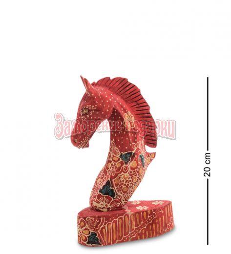 """10-014-02 Фигурка """"Лошадь"""" (батик, о.Ява) сред 20 см"""