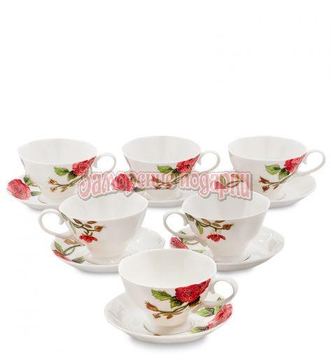 "JS-09 Чайный набор на 6 перс. ""Роза Рафаэлло"" (Pavone)"