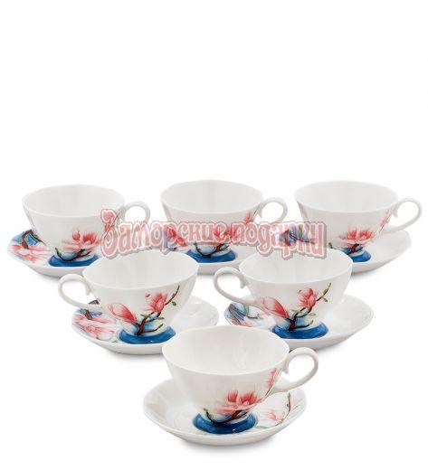 "JS-03 Чайный набор на 6 перс. ""Цветущая сакура"" (Pavone)"