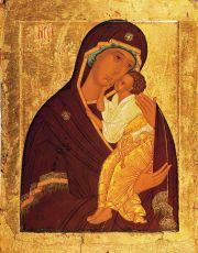 Икона Ярославская Божия Матерь 15 век