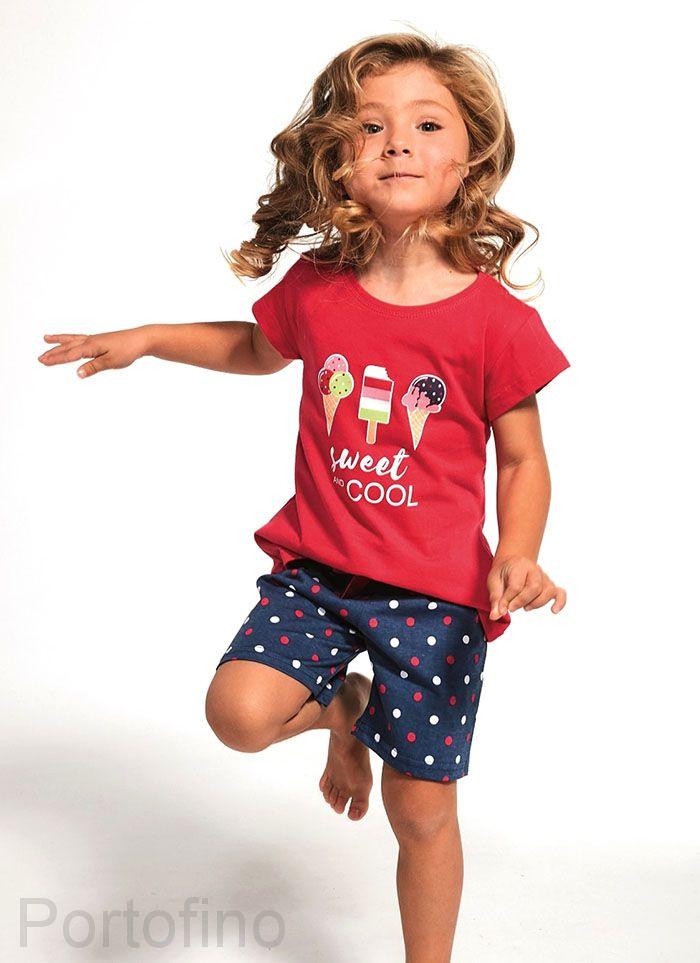 788-80 Пижама для девочки короткий рукав