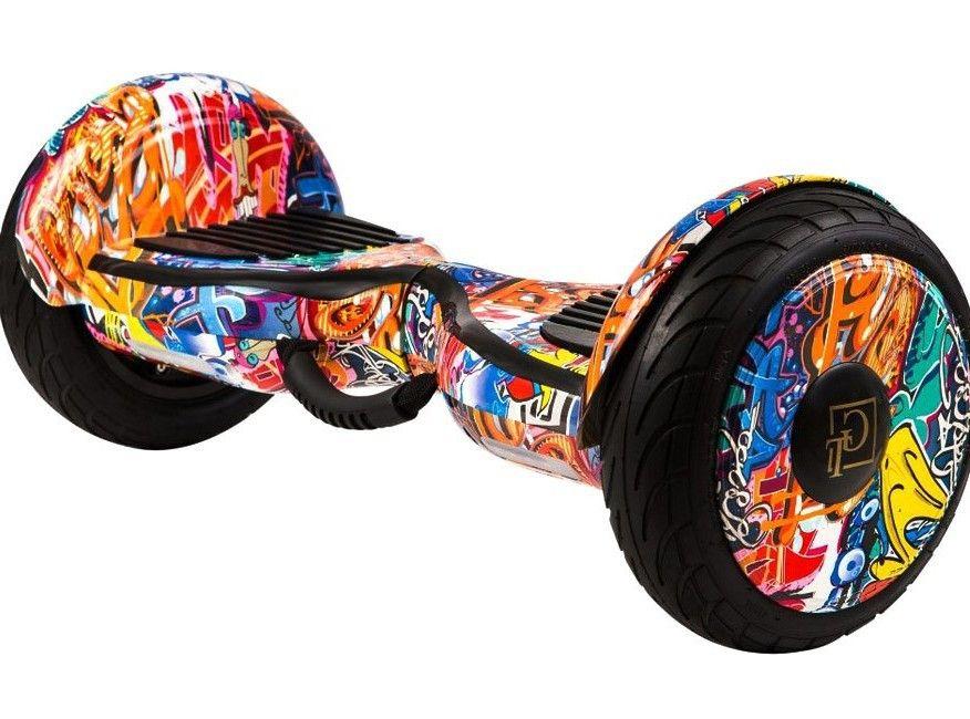 Гироскутер GT Smart Wheel 10,5 Самобаланс + App Граффити Оранжевый