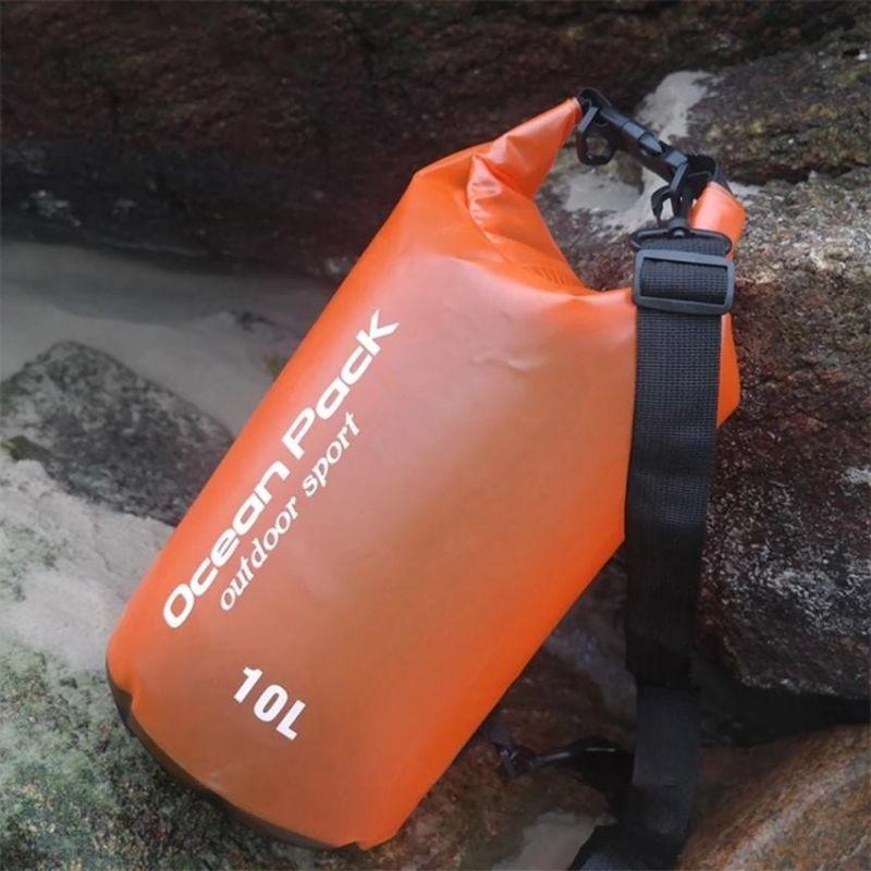 Водонепроницаемый мешок-рюкзак Ocean Pack Outdoor Sport 10 л (цвет оранжевый)