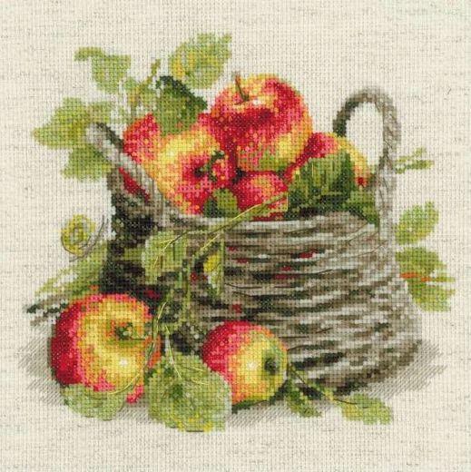 Набор для вышивания крестом Спелые яблоки №1450 фирма Риолис