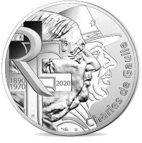 80 лет «воззванию Шарля де Голля ко всем французам»  10 Евро Франция  2020 Серебро на заказ
