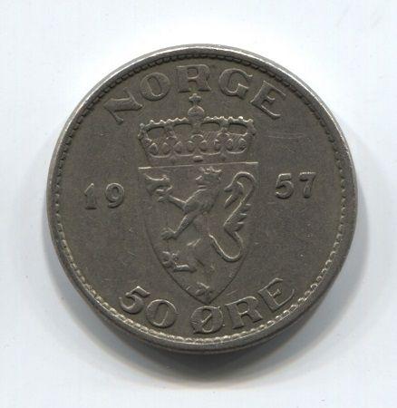 50 эре 1957 года Норвегия