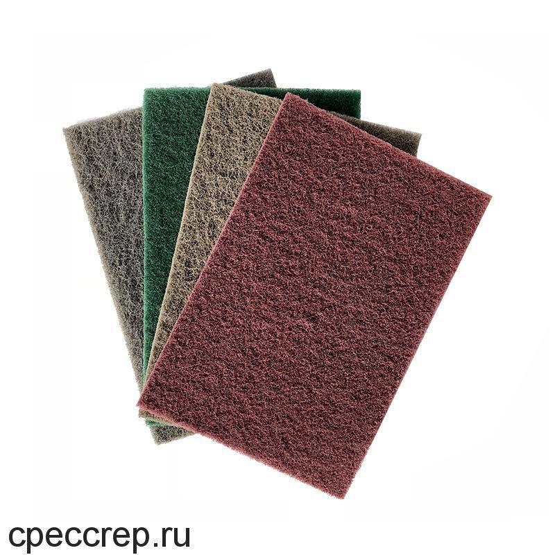 Нетканый абразивный материал 152х229мм VERY FINE, красный