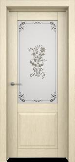 Межкомнатная дверь L 6 стекло Фрезия