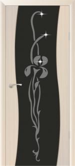 Межкомнатная дверь Сириус Волна с худ.рис. со стразами