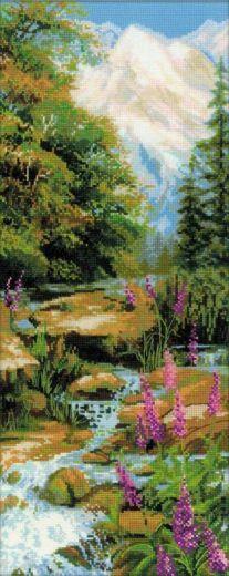 Набор для вышивания крестом Горный ручей №1487 фирма Риолис